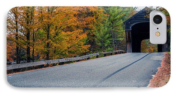 Corbin Covered Bridge New Hampshire IPhone Case by Edward Fielding