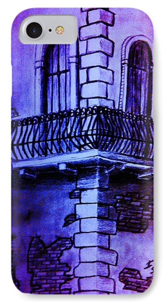 Corner Balcony In Italy IPhone Case by Irving Starr
