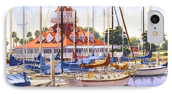 Coronado Boathouse IPhone Case by Mary Helmreich