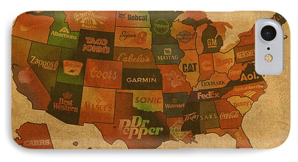 Corporate America Map IPhone Case by Design Turnpike