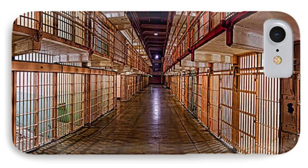 Corridor Of A Prison, Alcatraz Island IPhone Case by Panoramic Images
