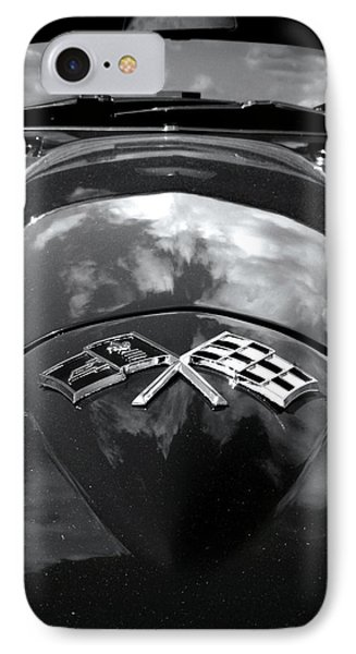 Corvette In Black And White Phone Case by Bill Gallagher