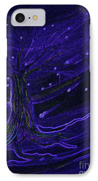 Cosmic Tree Blue Phone Case by First Star Art