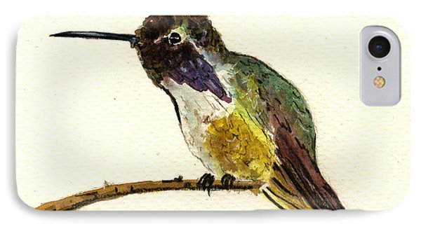 Costa S Hummingbird IPhone 7 Case by Juan  Bosco