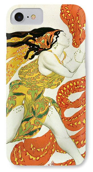 Costume Design For A Bacchante In Narcisse By Tcherepnin IPhone Case by Leon Bakst
