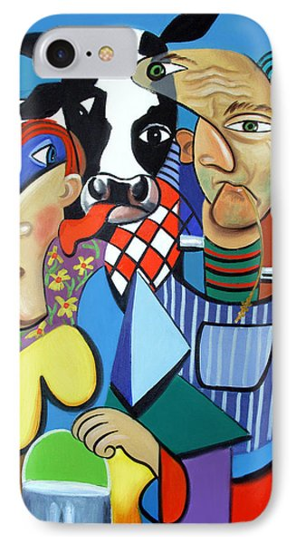 Country Cubism Phone Case by Anthony Falbo