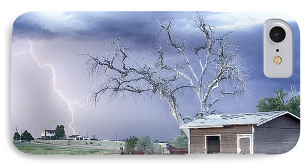 Country Horses Lightning Storm Co   IPhone Case by James BO  Insogna