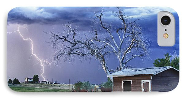 Country Horses Lightning Storm Ne Boulder County Co Hdr IPhone Case by James BO  Insogna