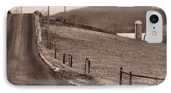 Country Road IPhone Case by Dan Sproul