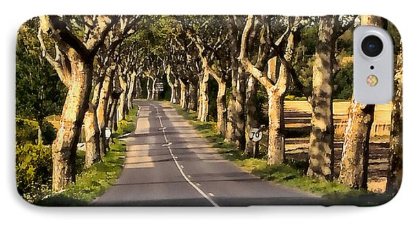 Country Road In Southern France - Bram D4 IPhone Case by Menega Sabidussi