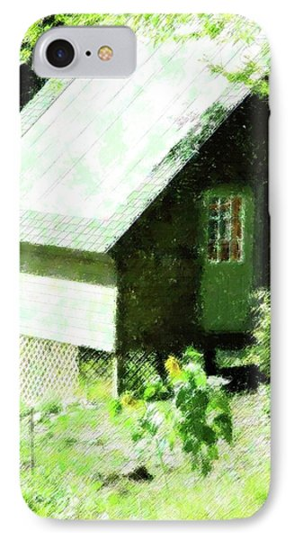 Country Shed Phone Case by Florene Welebny