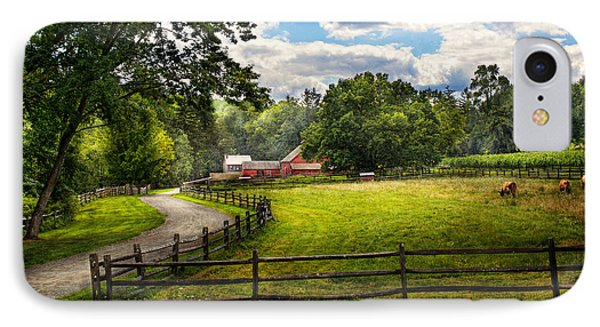Country - The Pasture  IPhone Case by Mike Savad