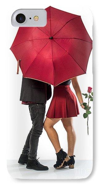 Couple And Umbrella IPhone Case by Carlos Caetano
