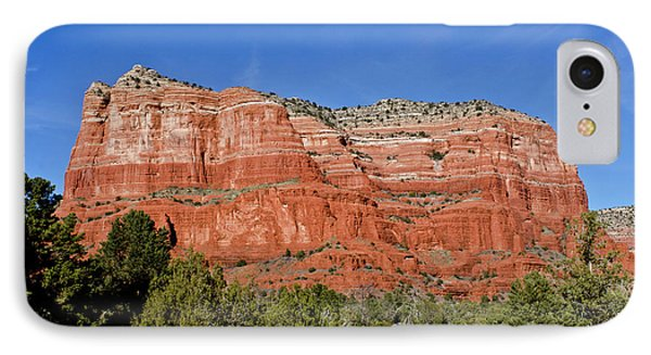 Courthouse Butte Ribboned Red Rocks IPhone Case by Jan and Stoney Edwards