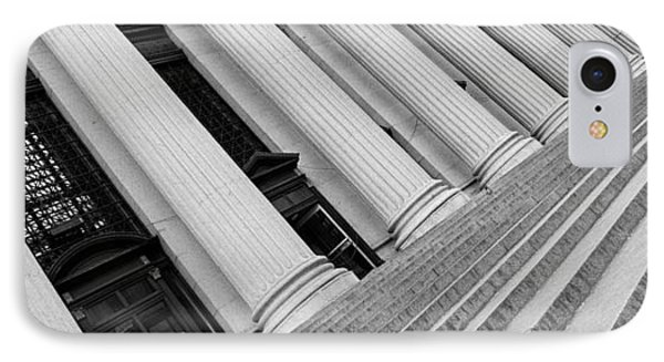 Courthouse Steps, Nyc, New York City IPhone Case by Panoramic Images
