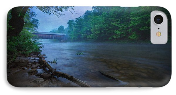 Covered Bridge  IPhone Case by Everet Regal