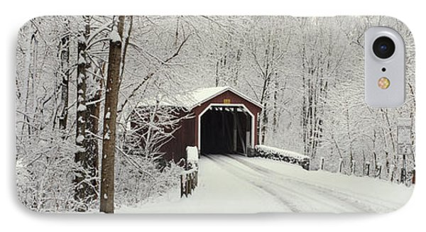 Covered Bridge Pa IPhone Case by Panoramic Images