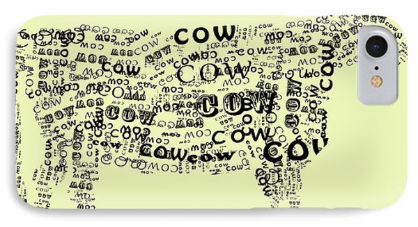 Cow Print IPhone Case by Heather Applegate