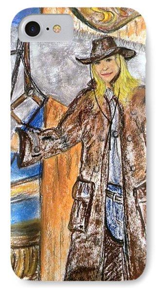 Cowgirl Phone Case by Igor Kotnik