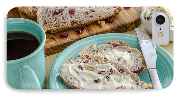 Cranberry Walnut Bread IPhone Case by Teri Virbickis