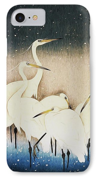 Cranes  IPhone Case by Shanina Conway