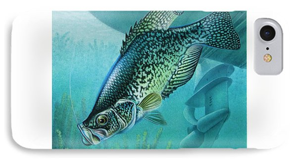Crappie And Boat Phone Case by JQ Licensing