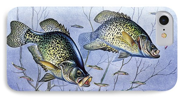 Crappie Brush Pile Phone Case by JQ Licensing
