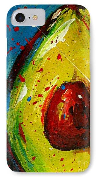 Crazy Avocado 4 - Modern Art IPhone Case by Patricia Awapara