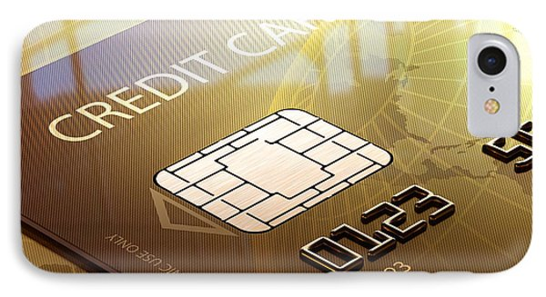 Credit Card Macro - 3d Graphic IPhone Case by Johan Swanepoel