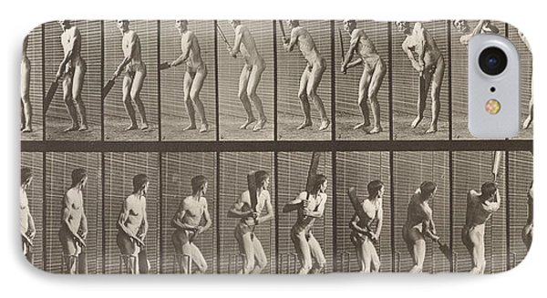 Cricketer IPhone 7 Case by Eadweard Muybridge