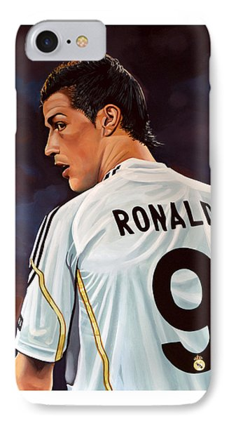Cristiano Ronaldo IPhone Case by Paul Meijering