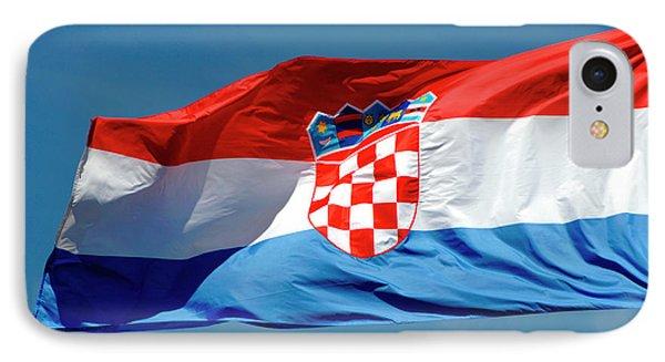 Croatian Flag IPhone Case by Prisma Archivo