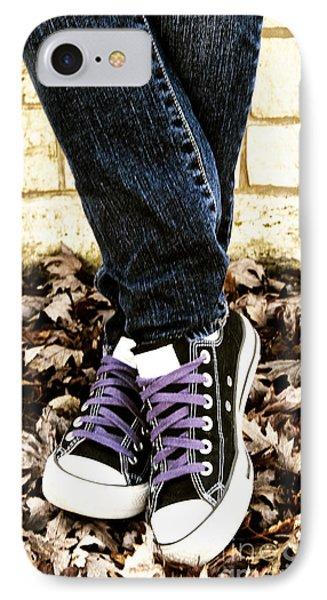Crossed Feet Of Teen Girl Phone Case by Birgit Tyrrell