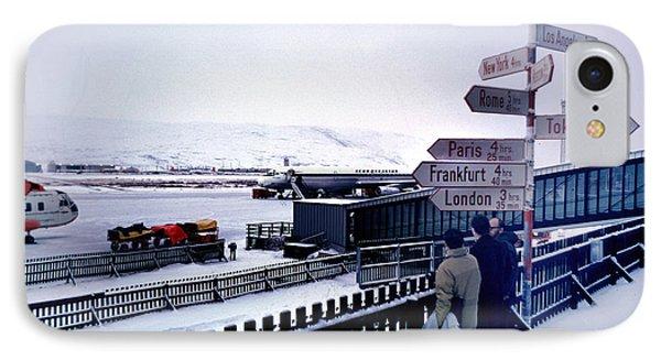 Crossroads In Iceland IPhone Case by Wernher Krutein
