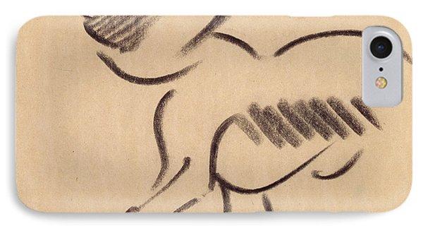 Crouching Monkey IPhone 7 Case by Henri Gaudier-Brzeska