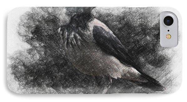 Crow IPhone Case by Taylan Apukovska