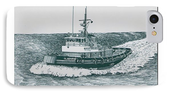 Crowley Tugboat Ocean Going Gladiator IPhone Case by Jack Pumphrey