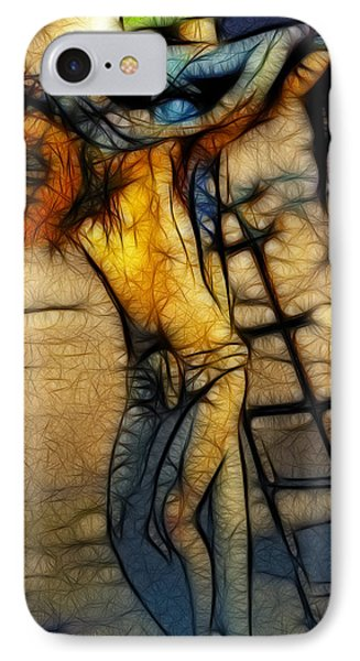 Crucifixion - Stained Glass Phone Case by Ray Downing