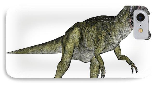 Cryolophosaurus Dinosaur IPhone Case by Elena Duvernay