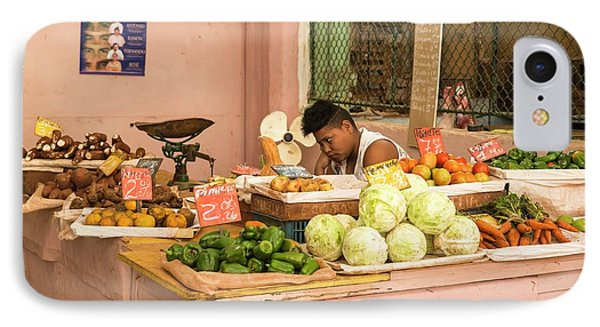 Cuban Market Stall IPhone 7 Case by Peter J. Raymond