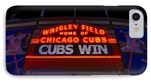 Cubs Win IPhone Case by Steve Gadomski