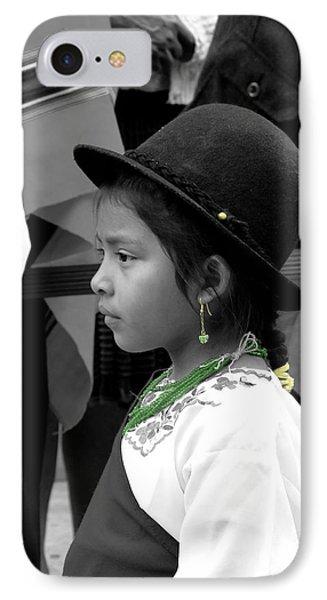 Cuenca Kids 568 IPhone Case by Al Bourassa