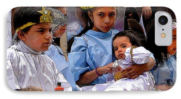 Cuenca Kids 589 IPhone Case by Al Bourassa
