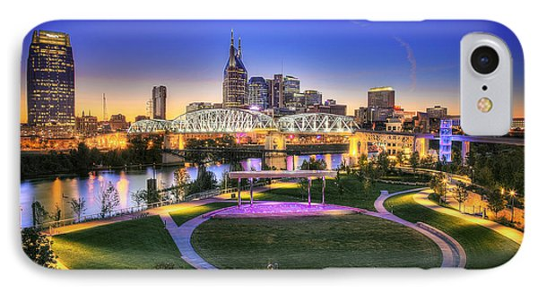 Cumberland Park And Nashville Skyline IPhone 7 Case by Lucas Foley