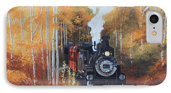 Cumbres And Toltec Railroad Steam Train Phone Case by Cecilia Brendel