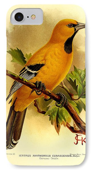 Curacao Oriole IPhone 7 Case by J G Keulemans
