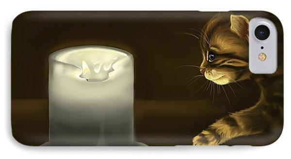 Curious Cat IPhone Case by Veronica Minozzi