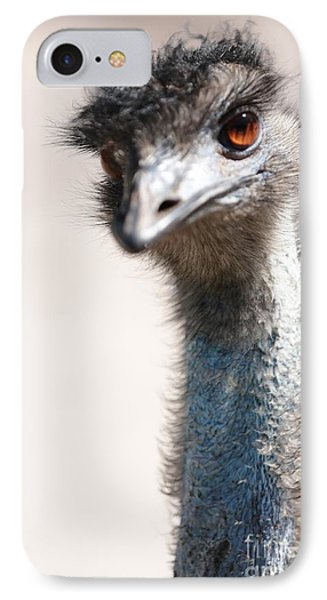 Curious Emu IPhone 7 Case by Carol Groenen