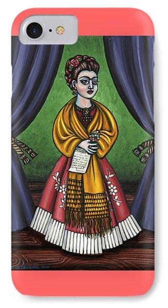 Curtains For Frida Phone Case by Victoria De Almeida