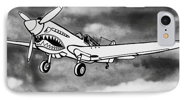 Curtiss P-40 Warhawk 2 IPhone Case by Scott Nelson